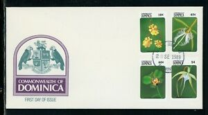 Dominica Scott #1186//1193 FIRST DAY COVER Orchids Flowers FLORA $$