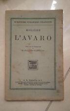 L'AVARO MOLIERE PARAVIA 1924