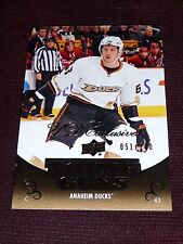 10-11 UD EXCLUSIVES Nick Bonino 51/100 YOUNG GUNS ROOKIE RC