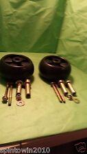 2 Pack John Deere Deck Wheel Kits AM133602 AM116299 M111489