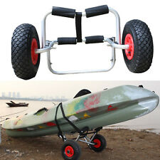 Canoë kayak chariot avec sangle et roulettes pneumatiques panier rapide pliable heavy duty