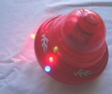 Red Battery Operated Spinning Flash Top Ultra Rotate Speed LED Sound Effect 🎁