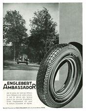 Publicité ancienne pneus Englebert ambassador 1935 issue de magazine
