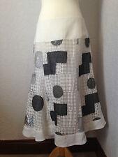 ARIA Bianco & patchwork in Organza gonna svasata 14
