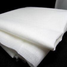 Medium weight WOVEN fusible cotton interfacing - 112cm wide - per metre WHITE