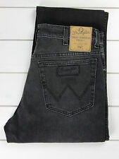 NEU Wrangler Texas Jeans Stretch schwarz/grau reguläre Passform gerades Bein
