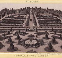 Shaw's Garden 1890's St Louis Missouri Botanical Garden Photo Lith Antique Card