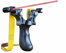 Power Rubber Band Slingshot Laser Aim High Precision Hunting Shooting Catapult