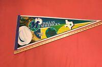 "RARE VINTAGE 80s DALLAS MAVERICKS PENNANT Cowboy Hat NBA FULL SIZE 12x30"""