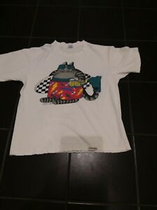 Vintage 1980's B KLIBAN Crazy Shirt Cat Lolo Beer Surfer SHIRT Size Large