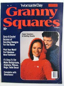 Womans Day Granny Squares Crochet Magazine Special No 4 1976 Afghans Sweaters