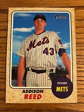 Addison Reed 2017 Topps Heritage High Number HN Mets Card #572  *2204*