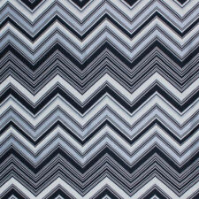 Chevron Zig Zag Black Geometric Modern Embroidered Fabric Drapery Upholstery IL9