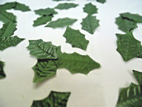 100 SMALL  HOLLY silk LEAVES/CRAFTS/DECORATION/WEDDING/FLOWERS/CHRISTMAS