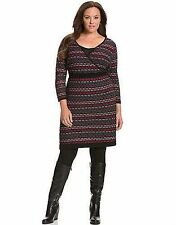 LANE BRYANT PLUS SIZE MULTI INTARSIA SWEATER DRESS 22/24 STRETCH