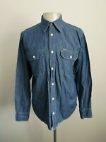 Mens Carhartt Wing Shirt Blue Long Sleeve Smart Casual Shirt VGC - Size Medium