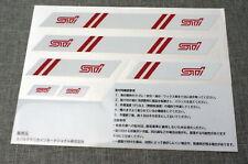 Genuine JDM STi Subaru Tecnica International Sticker Pack 6pcs Red & Silver