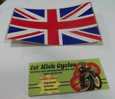 NOS VINTAGE 1970S RETRO BRITISH FLAG, TRIUMPH, BSA, NORTON ORIGINAL OEM