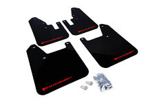 Rally Armor 98-02 Subaru Forester UR Black Mud Flaps Kit w/ RED Logo Letter