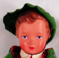 Vintage German Boy Doll Celluloid Traditional Bavarian Costume