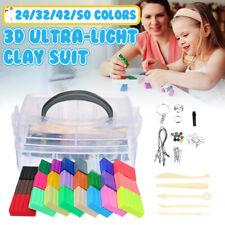 24-50 Colors Plasticine Clay Kit Ultralight Mud Kids Child Play Toy DIY Handmade
