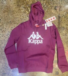 KAPPA MEN AUTHENTIC ESMIO SLIM FIT HOODIE VIOLET PURPLE / WHITE SIZE M, L