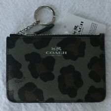 COACH Key Pouch With Gusset Ocelot Print NWT