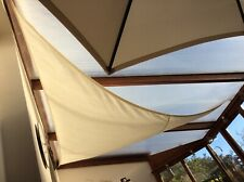 Large Triangle Sail Sun Shade Canopy Indoor or Outdoor Sunscreen Awning Patio