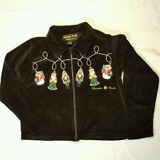 Christopher Radko Ornaments Bellepointe Christmas Sweater Jacket S Velour