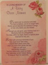 Memorial Grave Card In Loving Memory Of A Very Dear Nanna 15cm x 10.5cm