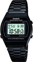 Casio Grey Dial Digital Display Watch with Black Stainless Steel Bracelet