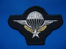 FRANCE FRENCH FOREIGN LEGION MILITARY PARACHUTE PARATROOPS BLACK PATCH 88mm