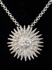 ARTHUS BERTRAND 925S/999S HELIOS Sun God Pendant Necklace RARE Louvre Paris NWT