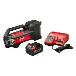 Milwaukee Transfer Pump Kit w Battery Charger Self Priming Cordless 1/4 HP 18V