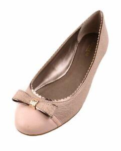 Coach Dorie Women's Peach Rose Leather Fashion Ballet Flats size 7.5