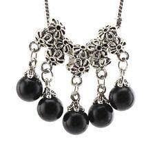 5pcs Tibetan silver pearl pendant spacer beads fit Charm European Bracelet BE019