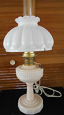 ALADDIN TALL LINCOLN DRAPE ALACITE OIL LAMP W/NEW ELECTRIC CONVERTER BURNER