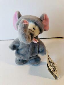 JUMBO Small Bear in Elephant Costume Mask Wee Bear Village Ganz New NWT H3140