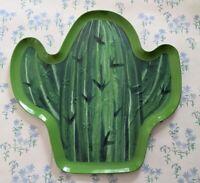NEW Ashland Home Green Cactus Cacti Melamine Large Serving Tray Summer Decor