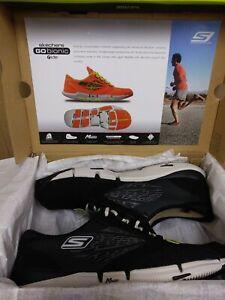NEW Rare 2012 Skechers Go Bionic Ride Mens Running Shoes Black Gray Size 6.5 E8