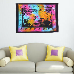 Multi Color Fairyland Poster Tapestry Indian Mandala Wall Hanging Hippie Throw