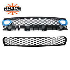Dodge Charger Upper Lower Grille w/o Adaptive Cruise Includes Bezel PQD B5 Blue
