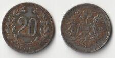 WWI 1918 AUSTRIA 20 HELLER AUSTRIA BIN #A AU High Quality Collectible Coin