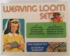 Vintage Weaving Loom Set -Peter Austin Mfg Co-Adjustable-Original Box -Potholder