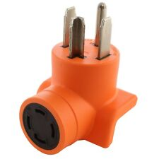 30 Amp NEMA 14-30P to 30 Amp NEMA L14-30R Dryer Outlet Adapter by AC WORKS®