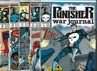 Punisher War Journal #1, #2, #3, #14 & #15  Lot of 5 (1988/89/90, Marvel Comics)