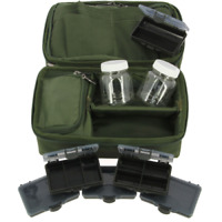 Complete NGT Rigid Carp Rig Pouch System +Glug Pots and Rig Boxes  850