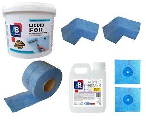 1.5 m² Waterproof Tanking Set Aqua Build Shower Liquid Foil Membrane Seal Kit1