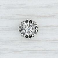 New Authentic Pandora Fairytale Bloom Charm - 791961CZ Clear CZ Openwork Silver