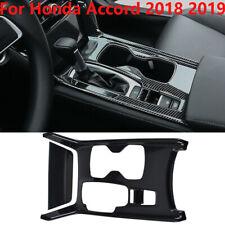 For Honda Accord 2018 2019 2PCS ABS Carbon Fiber Gear Shift Box Panel Cover Trim